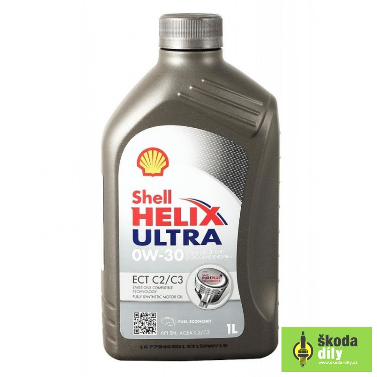 Shell Helix Ultra Ect C2 C3 0w 30 Long Life Engine Oil