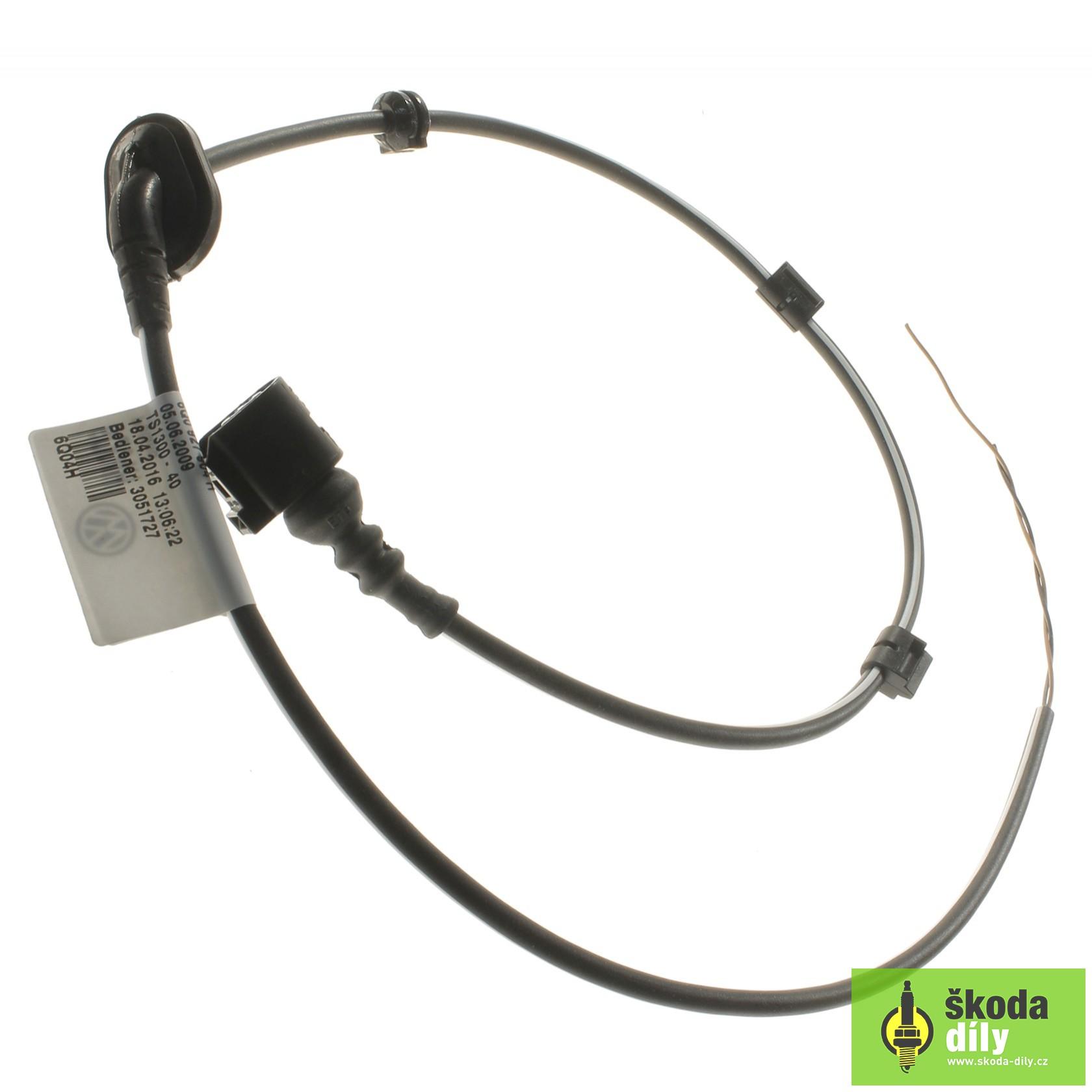Rear Left Speed Sensor Electrical Wiring Installation Bundle Koda