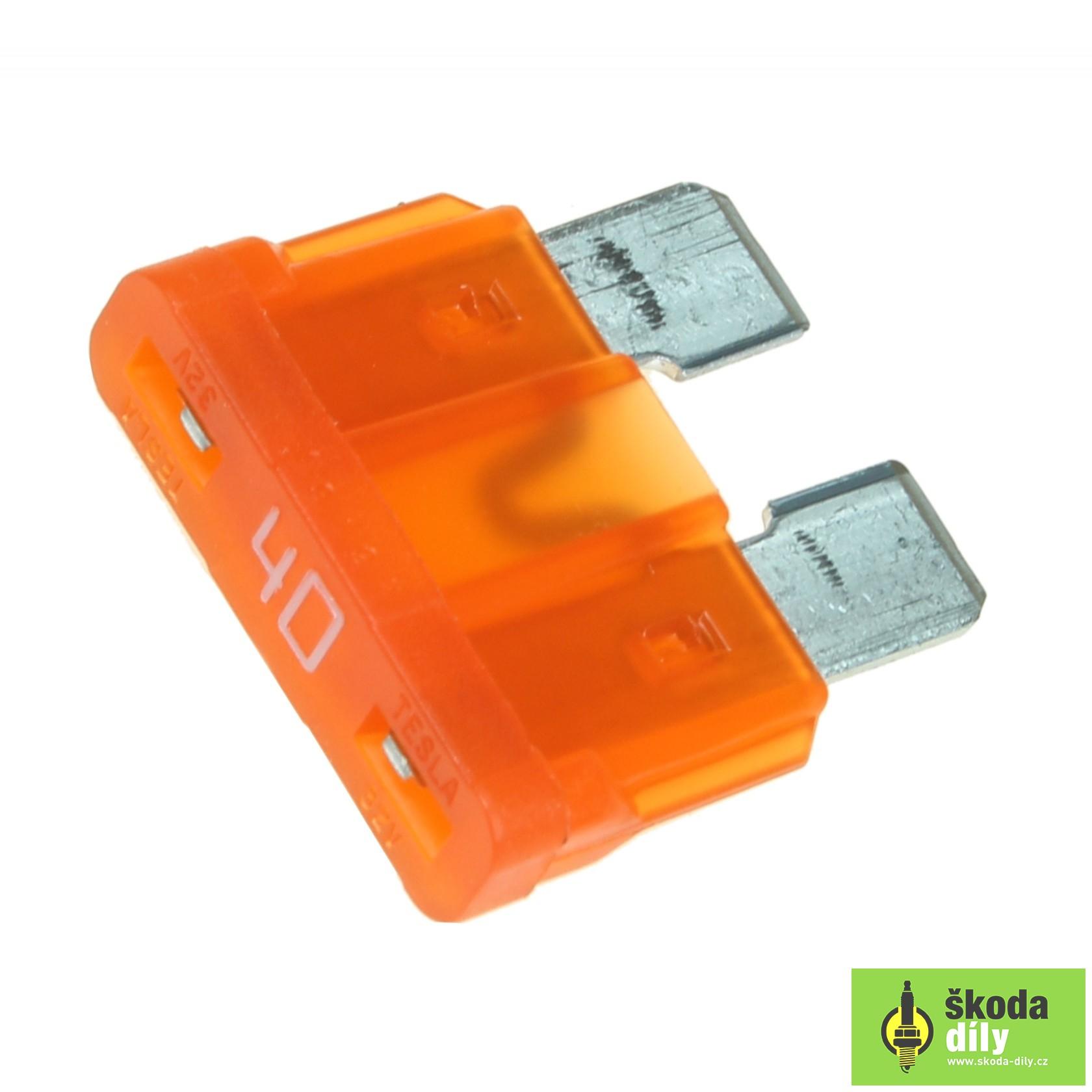 Emergency Fuse 40a Czech Republic N01713120 Skoda Yeti Box