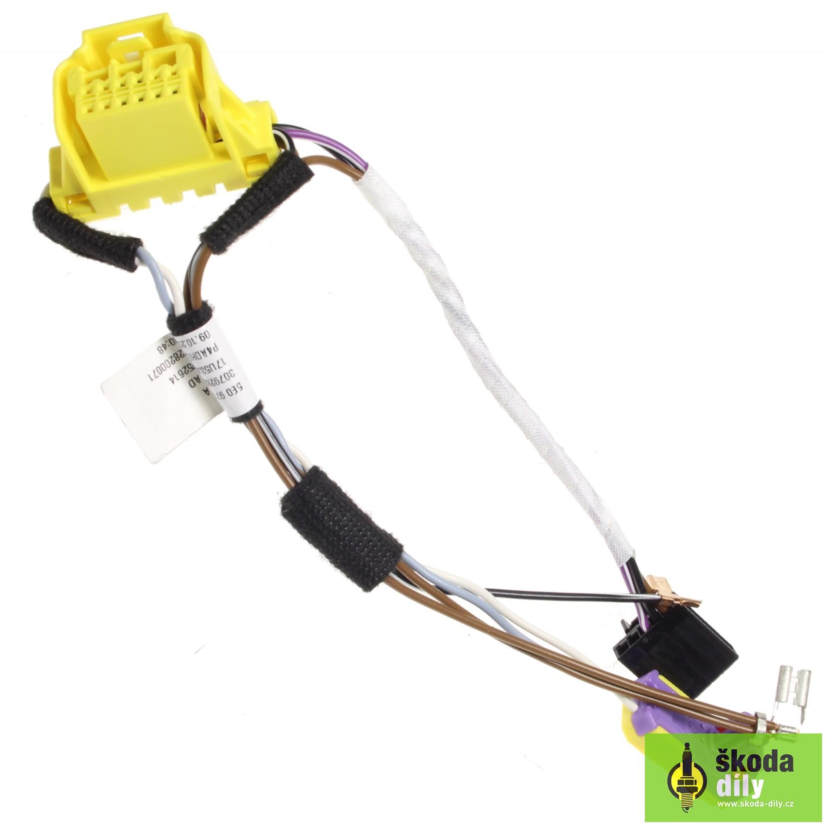 Electrical Wiring Installation Bundle the Steering Wheel Airbag Škoda |  Skoda-Parts.com